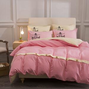纯色简约床上用品四件套1.2/1.5/1.8/2.0m床品三件套床单被套