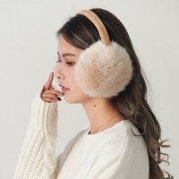 保暖耳包女护耳套保暖 女 可爱毛毛冬天耳罩女折叠汉堡捂耳朵套