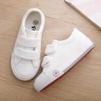 童鞋幼儿园小白鞋女童布鞋男童板鞋白球鞋儿童白色帆布鞋春秋