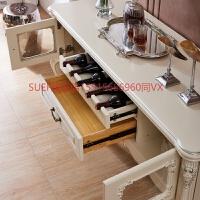 欧式餐边柜 红酒柜多功能储物收纳柜 餐具柜白色烤漆碗柜餐厅家具 双门