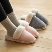 朴西冬天拖鞋情侣保暖家居家用毛绒防滑加厚软底室内棉拖鞋女家居