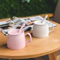 创意马克杯带盖勺大容量陶瓷茶水杯子定制简约咖啡牛奶早餐燕麦杯