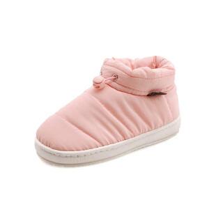 O'SHELL法国欧希尔新品冬季113-M80813女款韩版羽绒布平跟男女情侣雪地靴