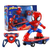 蜘蛛侠玩具遥控车 漫威周边360度旋转特技滑板车 儿童充电玩具车男孩女孩节日礼物 M021#蜘蛛侠滑板车