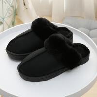 棉拖鞋女冬季男情侣包跟居家居防滑月子厚底毛毛可爱拖鞋冬天