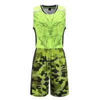 全迷彩篮球服套装男篮球衣训练比赛队服印字号