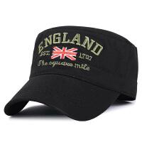 秋冬季新款男士帽子休闲平顶帽户外保暖帽全棉军帽鸭舌帽