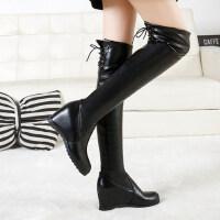 网红靴秋冬季加绒靴子女长靴女过膝靴高筒平底瘦瘦长筒靴