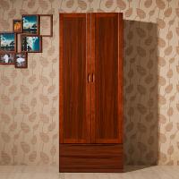 御品工匠 实木衣柜 二门衣柜带抽 青少年家具 儿童卧房两门衣柜 K0281