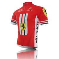 红色法拉利夏季透气排汗山地自行单车队装备短袖骑行服套装男女款