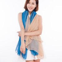 雪纺纱纯色女性春秋丝巾婚纱披肩夏天空调防晒长款围巾