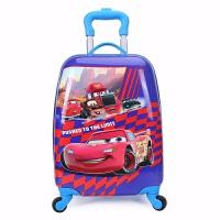 儿童拉杆箱18寸万向轮行箱16寸男女学生小孩宝宝公主卡通拖拉箱 蓝红色 95汽车18寸