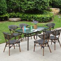 户外桌椅室外庭院露台花园藤编椅子外摆休闲藤椅三件套阳台小茶几