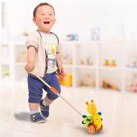 婴儿童推推乐推杆学步走路单杆手推车木玩具