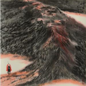博阳 中国美协会员、一级美术师 《丹心侠风》(经作者认定为真迹)
