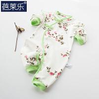 婴儿连体衣服宝宝新生儿哈衣01岁3个月潮服满月春装睡衣6