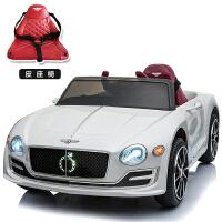 儿童电动车四轮汽车遥控玩具车可坐人小孩婴儿带摇摆宝宝宾利童车