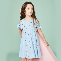 【3折价:74.7元】souhait水孩儿童装夏季新款连衣裙半袖裙儿童裙子SHNXGD10CZ545