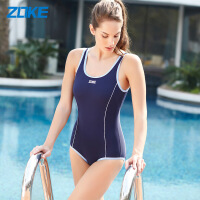 洲克游泳衣女连体三角遮肚显瘦保守小胸聚拢运动泳装