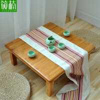 【满减优惠】楠竹炕桌实木方桌正方形床上学习桌饭桌榻榻米桌子小茶几飘窗矮桌