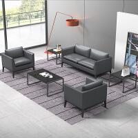 办公沙发茶几组合商务接待单人双人三人位大小型会客室西皮艺沙发