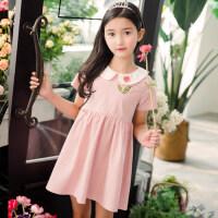 童装连衣裙女童夏装2018新款夏季时尚韩版洋气中大童儿童公主裙子 款式2 洋