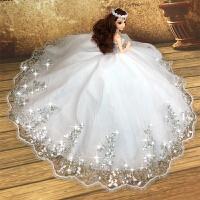 换装芭芘比娃娃套装大礼盒婚纱公主女孩儿童衣服洋娃娃玩具礼物