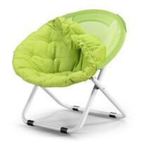 月亮椅太阳椅懒人椅雷达椅躺椅折叠椅圆椅沙发椅靠背 【可拆卸】 果绿色
