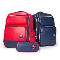 卡拉羊3-6年纪小学生书包笔袋套装儿童双肩包笔袋套装学生背包CX9608