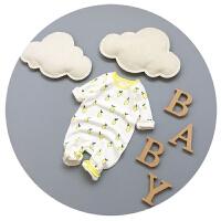 婴儿连体衣春秋夏新生儿纯棉0-3-6-9个月男女宝宝衣服春装哈衣潮