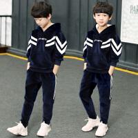 童装男童秋装套装中大儿童冬装金丝绒男孩秋冬季韩版潮衣