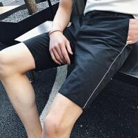 20180710045933617夏季西装短裤男修身韩版休闲五分裤英伦潮流2018夏天5分西裤