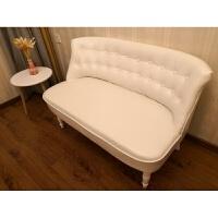 服装店小沙发单人双人三人小户型美式迷你款店铺卧室沙发欧式