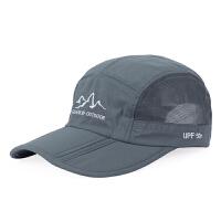 夏季新款男女士棒球帽户外防晒遮阳帽可折叠网眼鸭舌帽