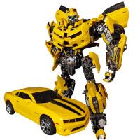 变形玩具金刚5合金版大黄蜂机器人威将MPM03超大战锤模型 大黄蜂MPM03
