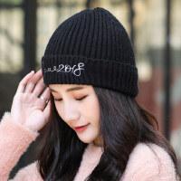 帽子女韩版潮毛线帽百搭甜美可爱针织帽日系女生加厚保暖
