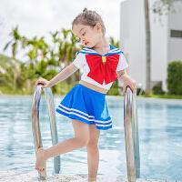 儿童泳衣女孩女童分体连体可爱日系宝宝游泳衣