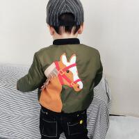 男童保暖外套冬装新款儿童韩版卡通1 -5岁宝宝圆领加厚棉衣潮