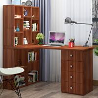 电脑桌转角书桌书柜书架组合多抽屉台式家用一体学习写字台