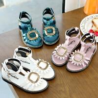 女童凉鞋夏季小孩凉鞋女宝宝儿童罗马凉鞋学生沙滩鞋