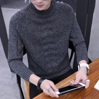 冬季毛衣男半领潮流加厚男士毛线衣韩版针织衫男保暖男装打底衫