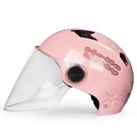 摩托车头盔电动车帽半覆式男女可爱四季通用夏季防晒卡通半盔 均码