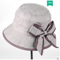 老年人女士帽子妈妈韩版潮中老人帽奶奶女中年布帽盆礼帽