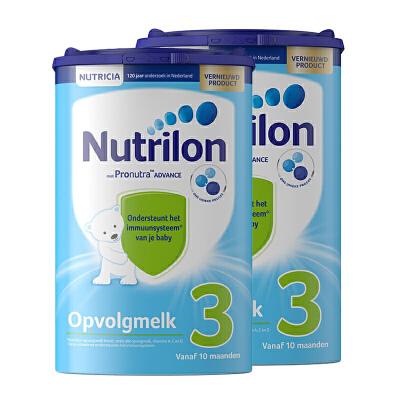 【3段】保税区发货 荷兰牛栏Nutrilon诺优能 婴幼儿奶粉 三段(10-12个月) 800g*2罐 海外购 新老包装随 机发货