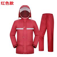 雨衣雨裤套装电动电瓶车摩托车防水全身雨衣徒步分体男女骑行新品 红色 雨衣雨裤套装
