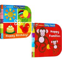 【英文原版】Baby Touch First Numbers/Tickle Me 2册 儿童启蒙大开本纸板书绘本 触摸书