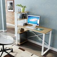 电脑桌简约台式家用小书桌书架组合简易办公写字台学生学习桌