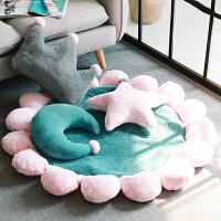 INS抱枕靠垫沙发圆形地垫女卧室枕头可爱少女心网红飘窗地毯套装