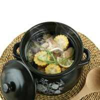 砂锅汤锅大容量炖锅家用燃气直烧贴花汤煲 陶瓷煲汤锅煮粥煲汤锅