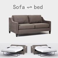 美式小户型布艺沙发床客厅书房休息床北欧双人三人沙发现代简约 2米以上